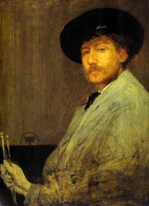 James Abbott Mcneill Whistler - 安排 在  灰色  肖像  的  的  画家