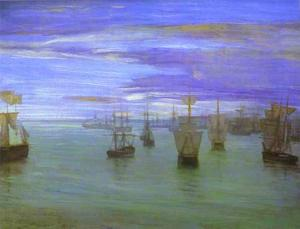 James Abbott Mcneill Whistler - Crepuscule 在 肉 颜色和 绿色 , 瓦尔帕莱索