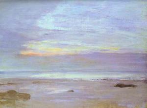 James Abbott Mcneill Whistler - Crepuscule在蛋白石,特鲁维尔