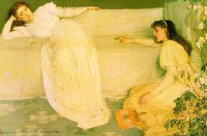 James Abbott Mcneill Whistler - 交响乐 在  白  编号  3