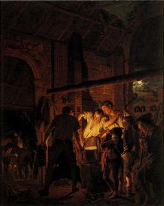 Joseph Wright Of Derby - 一个铁匠铺