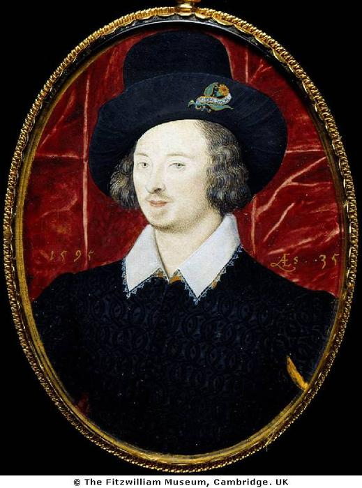 亨利爵士Slingsby, 油 通过 Nicholas Hilliard (1577-1619, United Kingdom)