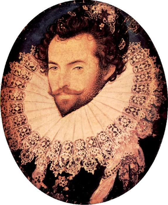 沃尔特·罗利爵士 通过 Nicholas Hilliard (1577-1619, United Kingdom) | 手工畫 | WahooArt.com