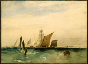 Richard Parkes Bonington - Seapiece , 关闭 法国 滨