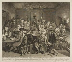 William Hogarth - Plate  六 ,  从 Rake's Progress