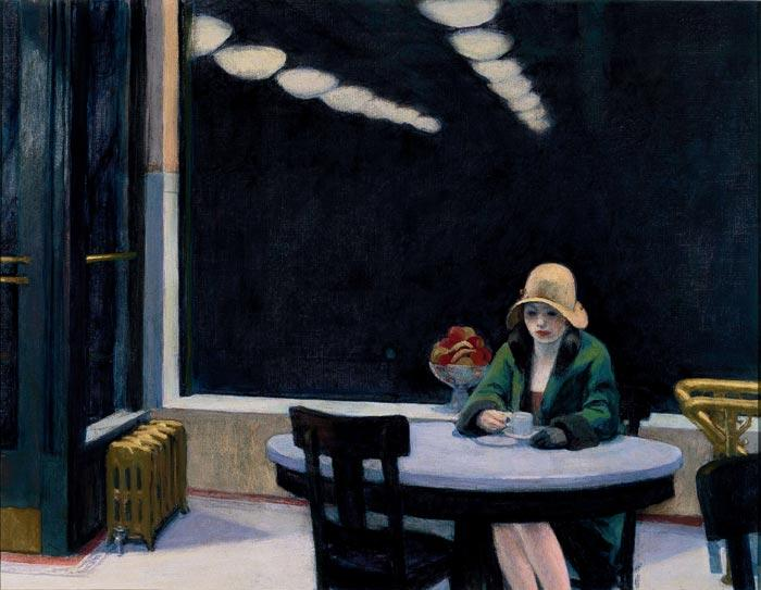 自动售货机, 1927 通过 Edward Hopper (1931-1967, United States) | 手工畫 | WahooArt.com