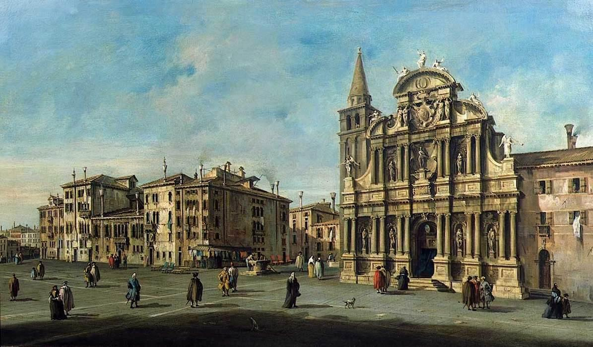 教会 圣玛丽亚 Zobenigo 通过 Francesco Lazzaro Guardi (1712-1793, Italy) | WahooArt.com
