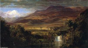 Frederic Edwin Church - 研究的 心脏 of  的 Andes''''