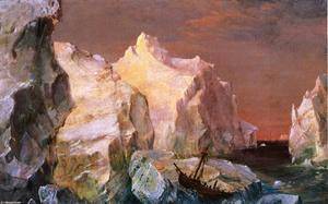 Frederic Edwin Church - 研究 冰山 1