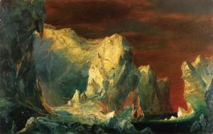 Frederic Edwin Church - 研究 冰山