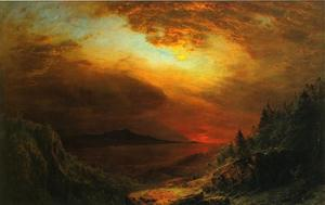 Frederic Edwin Church - 暮光之城沙漠山岛,缅因州