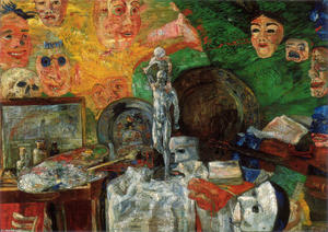 James Ensor - attributes`  的  工作室