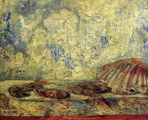 James Ensor - 等虾肉coquillages