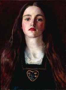 John Everett Millais - 肖像的女孩 苏菲  灰色