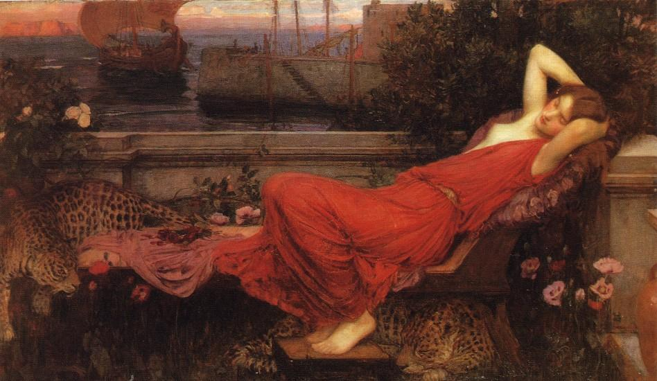 阿里阿德涅, 1898 通过 John William Waterhouse (1849-1917, Italy) | 油畫 John William Waterhouse | WahooArt.com