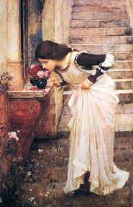 John William Waterhouse - 在神社