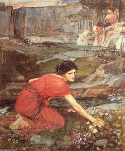 John William Waterhouse - 少女采摘(研究)