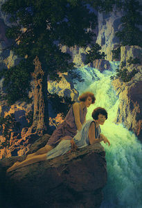"Maxfield Parrish - ""瀑布"