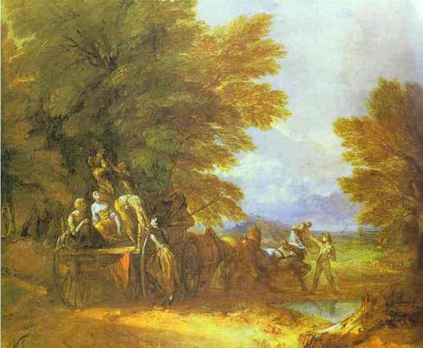 英国农村风景油画