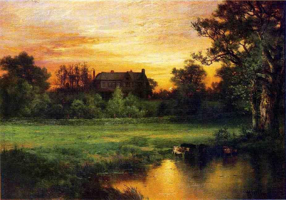 的Easthampton, 1897 通过 Thomas Moran (1837-1926, United Kingdom) | 畫複製 Thomas Moran | WahooArt.com