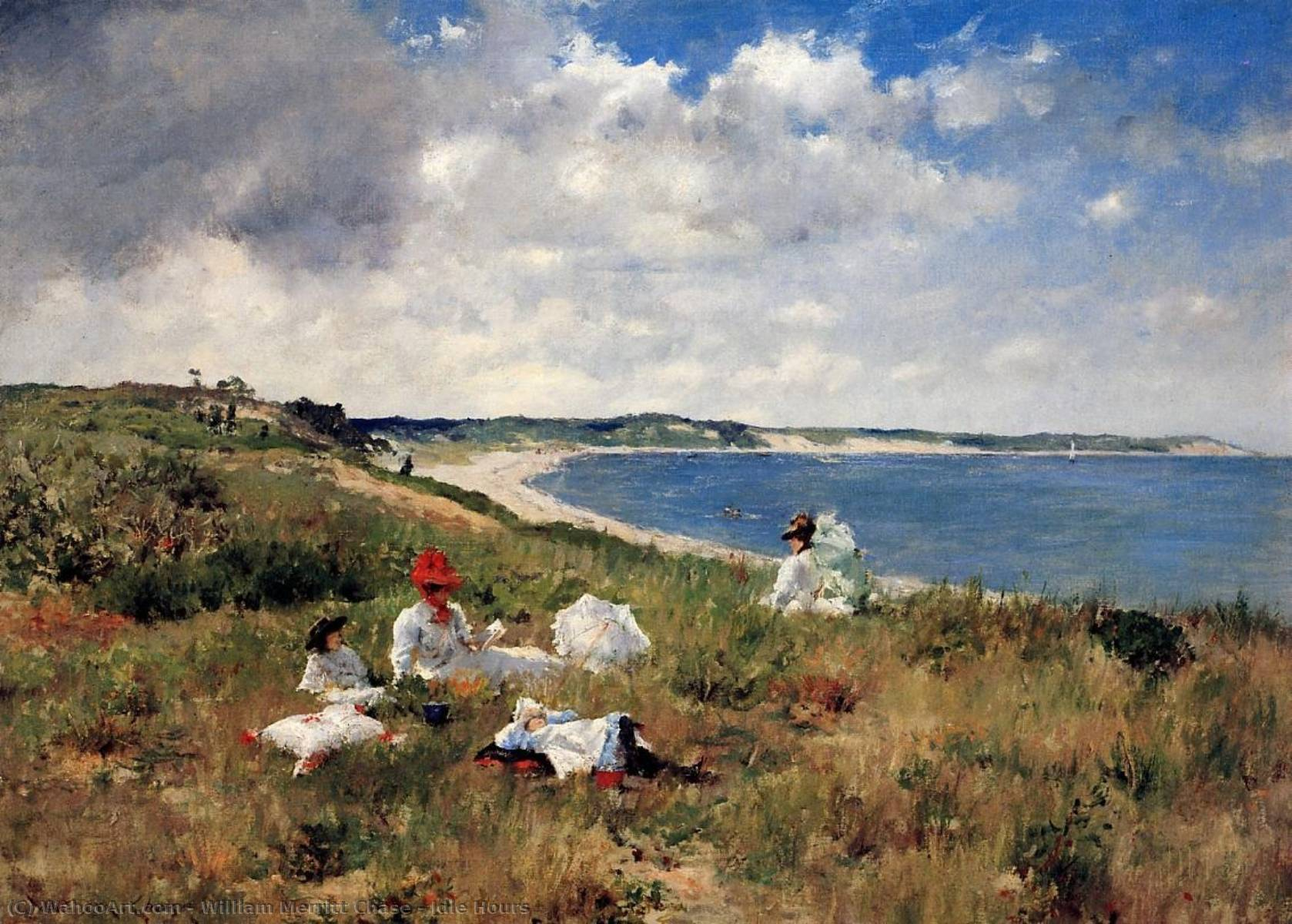 空闲时间, 1894 通过 William Merritt Chase (1849-1916, United States) | 畫複製 William Merritt Chase | WahooArt.com