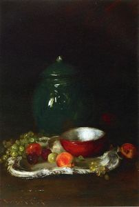 William Merritt Chase -  的  小 红  碗