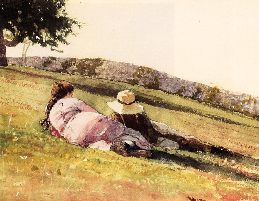 上  山, 1878 通过 Winslow Homer (1836-1910, United States) | 手工油畫 Winslow Homer | WahooArt.com