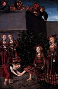 Lucas Cranach The Elder - 大卫 拔示巴