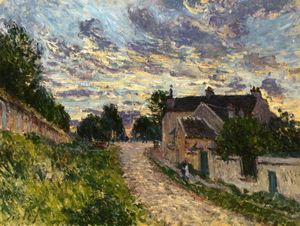 Alfred Sisley - 在Louveciennes的的路径
