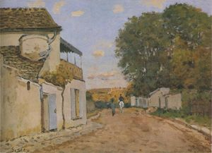 Alfred Sisley - 公主 街  在  Louveciennes的
