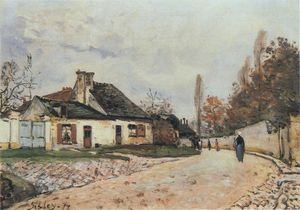 Alfred Sisley - 的Voisins街Louveciennes的