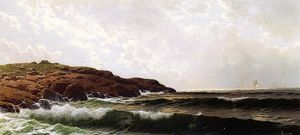 Alfred Thompson Bricher - 上午Sakonnet,罗德岛