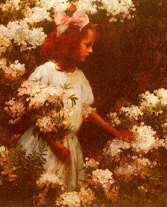 Charles Courtney Curran -  花园 走路