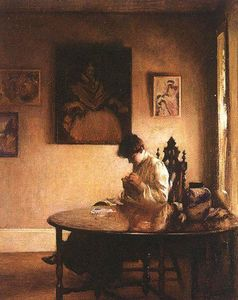 Edmund Charles Tarbell - 女孩Crotcheting