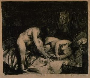 George Wesley Bellows -  两 女孩