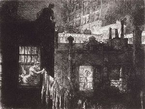 John Sloan - 夜的Windows