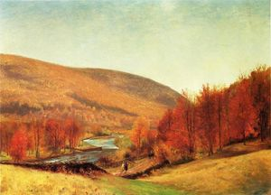 Thomas Worthington Whittredge - 秋天风景,佛蒙特州