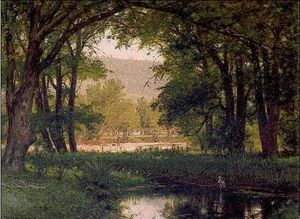 Thomas Worthington Whittredge - 池鹭和