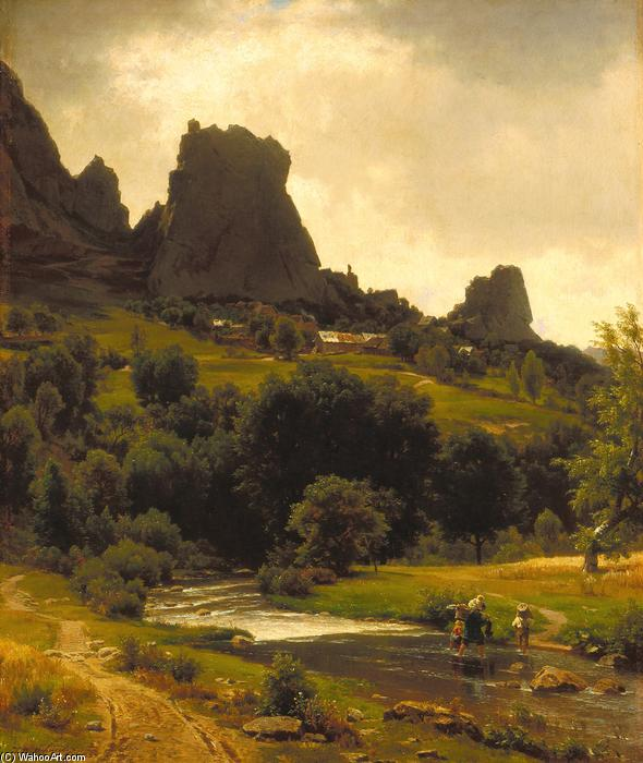 夏季田园(查看Kallenfels的) 通过 Thomas Worthington Whittredge (1820-1910, United States) | 幀畫冊專輯 | WahooArt.com