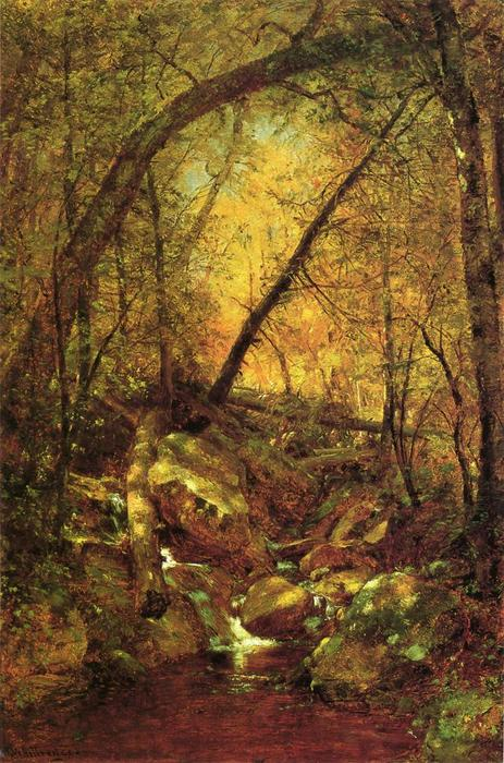 阳光照在布鲁克, 1870 通过 Thomas Worthington Whittredge (1820-1910, United States) | 傑作拷貝 | WahooArt.com