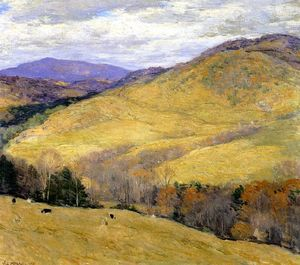 Willard Leroy Metcalf - 佛蒙特山,十一月