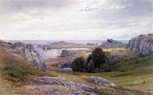 William Trost Richards - 帆船,纽波特海岸