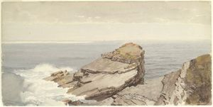 William Trost Richards - 在岸岩