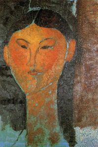 Amedeo Modigliani - 人像比阿特丽斯黑斯廷斯