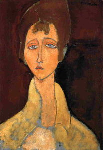 Amedeo Modigliani - 女人在白大衣