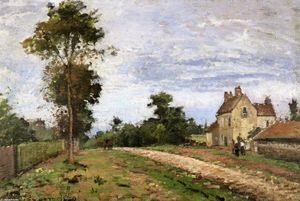 Camille Pissarro - 先生Musy,Louveciennes的众议院