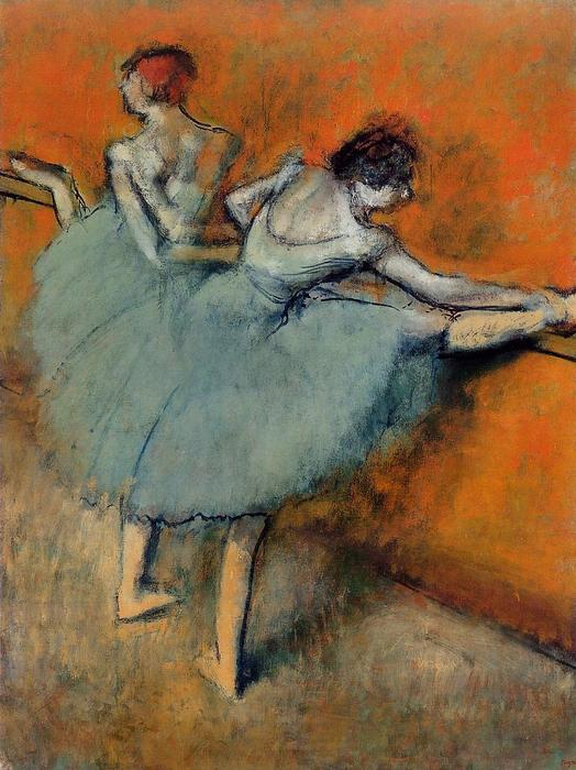 舞者在巴雷 1  , 1888 通过 Edgar Degas (1834-1917, France) | 幀打印 | WahooArt.com
