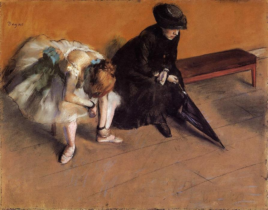"""等待 通过 Edgar Degas (1834-1917, France) 