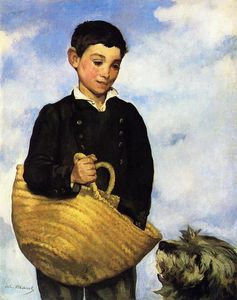 Edouard Manet - 男孩  与 狗
