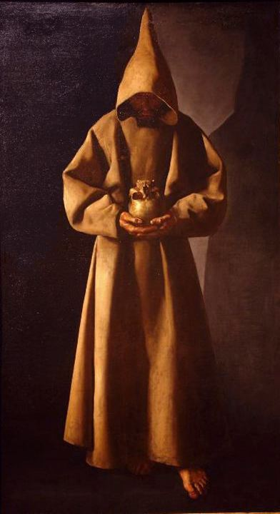 san  旧金山 1, 油 通过 Francisco Zurbaran (1598-1664, Spain)